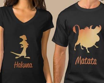Lion King Iron On T-shirt Transfer Printable - MATCHING SHIRTS - Timon and Pumba  Hakuna Matata