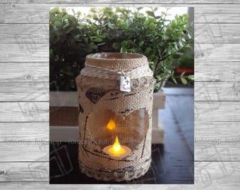Decorative Bottle LIGHT Rustic Vintage Personalized Gift Custom Candleholders Faith Love Hope Peace Dream New!