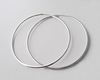 Large hoop earrings Silver 925/1000 rings
