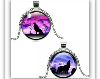 Wolf,Glass Wolf,Glass Wolf Pendant Jewelry,Wolf Gift
