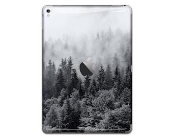 Nature trees iPad Skin Sticker forest iPad Case Black trees iPad Decal fog iPad Cover iPad Sticker iPad Air iPad Pro 9.7 12.9 IPA053