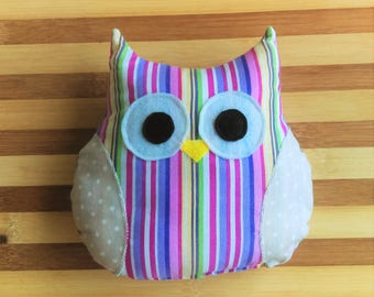 Owl Toy with Squeaker - Stripes & Polka Dots