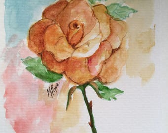 Rose greeting card/RoseWatercolor Greeting Card/Rose watercolor card/Rose flower/Floral greeting card/Rose watercolor/Card and envelope