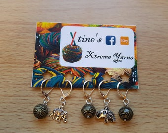 The Elephant Collection - Version 1 Stitchmarkers