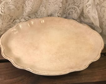 Vintage Homer Laughlin Large Oval Platter - Hudson G54 - 15 Inch