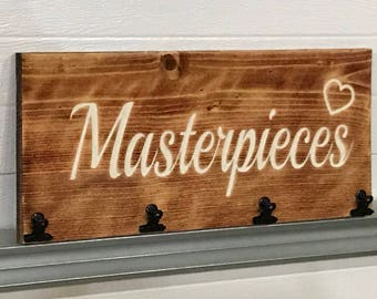 RUSTIC KIDS MASTERPIECES Engraved Decor