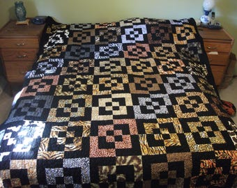 Animal Skin Bento Box/Chopped Block Quilt