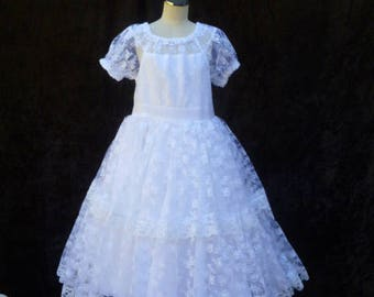 Christening dress,Upcycled girls dress, Special occasion dress, size 6-12 months