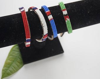 Masai beaded bracelet/ beaded anklet
