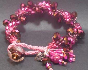 Sparkly Fuchsia Bracelet