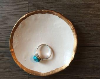 White Ring Dish