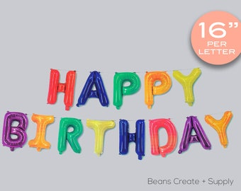 """Multi-Colour Happy Birthday Letters balloon 