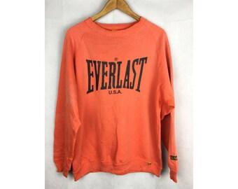 EVERLAST USA Medium SIZE sweatshirt with Big Spell Out Logo