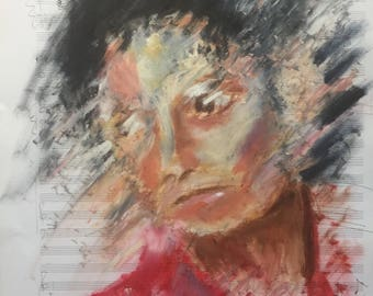 Michael Jackson signed limited edition print A3