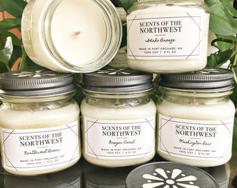 Handmade Soy Candles- Your choice of 4