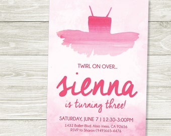 Ballerina Party Invitation