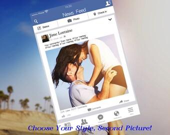 Custom Designed Facebook Frame Photo Booth Prop (Digital File Only) Facebook Prop