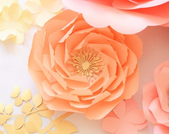 Ostin paper flower template. PDF and SVG.