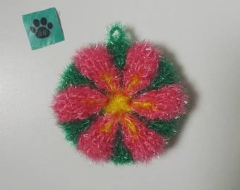 tawashi sponge ware/shower (green, Fuchsia)