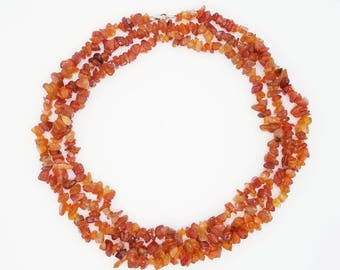 "60"" Carnelian Necklace"