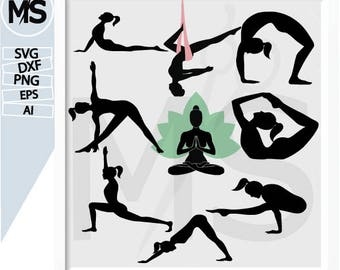 70% OFF, Yoga svg, Yoga Silhouettes, Vector art, instant download, Digital Cut, Print Files, Svg Files dxf, eps, Ai, png