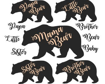 Mama bear svg file Mama bear dxf svg Papa bear svg Little bear svg Sister bear Brother bear Arrow svg svg files for Cricut svg Silhouette
