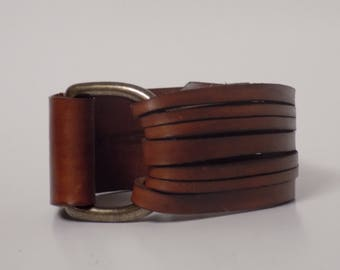 Leather Bracelet, Leather Cuff, Women's Leather Bracelet, Men's Leather Bracelet, Leather Jewelry, Leather with Brass, Nickel Free Jewelry