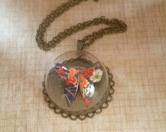 Origami Butterfly Necklace, Origami Jewelry, Terrarium Necklace, Origami  Necklace, Paper ,Anniversary,Washi paper