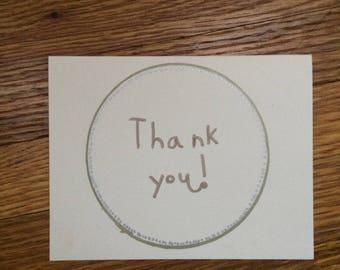 Plain Homemade Thank You Card