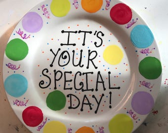 Special Day Hand Painted Plate