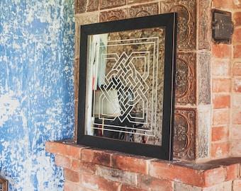 Engraved Wall Mirror | Entryway Mirror | Hallway Mirror | Dinning Room  Mirror | Living Room