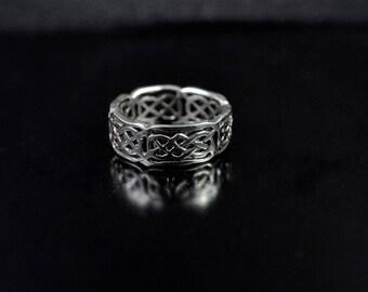 Celtic Design Sterling Silver Band