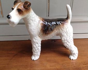 Large vintage ceramic Airedale Terrier figure 1960s