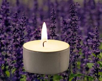 Lavender Scented Vegan Soy Handmade Scented Tealights