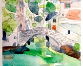 Italy watercolor