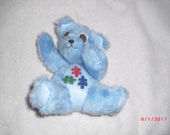 Blue Autism Awareness Bear