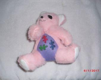 Pink Autism Awareness Bear