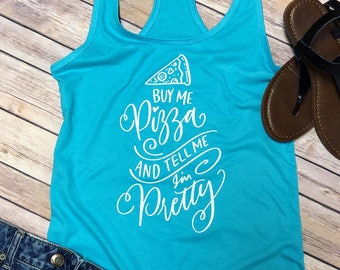 Pizza, Tank Top, Gym clothes, Racerback tank top, Pizza Shirt