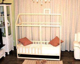 Toddler bed ,nursery crib, children bed, Montessori bed, kid bed, wood bed, children home, waldorf toy,  kids bedroom, floor bed