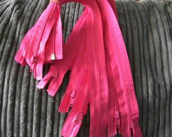 Zippers, zips, nylon zips, 18 inch long zippers, open end zips, 3mm wide zips, multi colours of zips