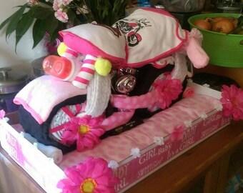 Harley Davidson diaper cake