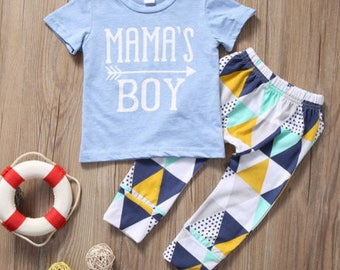 Mamas Boy shirt and pants for baby boys ages 6 months - 24 months