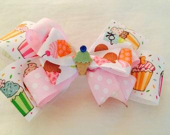 Ice Cream and Cupcakes Barrette