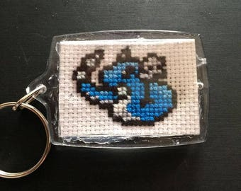 Hand Made Cross Stitched Dragonair Keychain