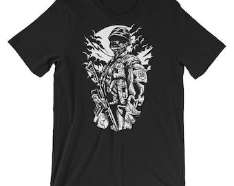 Zombie Soldier Short-Sleeve Unisex T-Shirt
