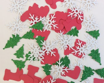 Christmas confetti, Christmas party decorations, Christmas decor, Christmas table decorations, Christmas stocking, Snowflake confetti