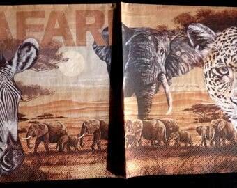Jungle animal safari paper towel