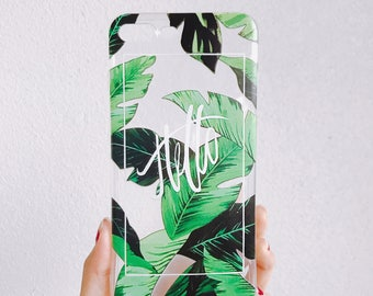 Palm leaves iphone 7 plus case
