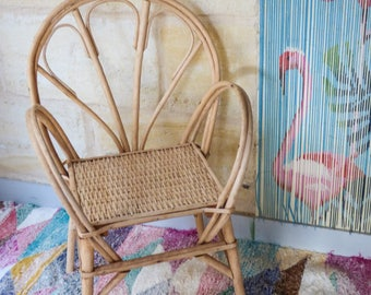 Handmade Bohemian natural Wicker Chair