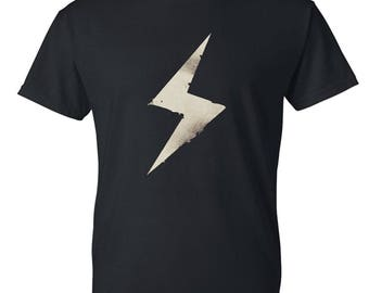 Lightning bolt Mens / Womens T-shirt High Quality Fashion Style Hand Crafted Apparel Bulk Orders Discounts !